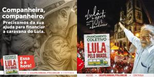 Caravana Lula pelo Brasil: contribua e faça parte dessa história