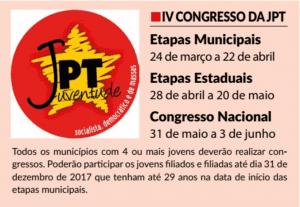 Em defesa da realização do 4º Congresso da JPT!