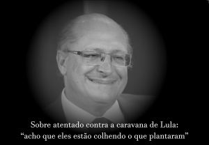 """Eu """"concordo"""" com Alckmin"""