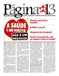 Página 13 n° 184 Especial Saúde,  abril 2018