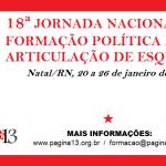 18ª Jornada Nacional de Formação Política da AE: inscrições abertas!