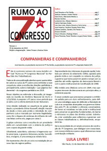 7º Congresso Nacional do PT – Boletim virtual 1