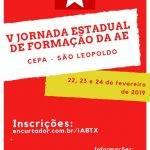 AE-RS realiza V Jornada Estadual de Formação em São Leopoldo, de 22 a 24 de fevereiro
