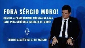 Centro Acadêmico XI de Agosto lança abaixo-assinado pela renúncia imediata de Moro
