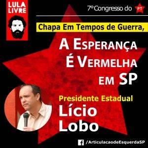 """Confira a tese """"Em Tempos de Guerra, A Esperança É Vermelha em SP"""" ao 7º Congresso Estadual do PT SP"""