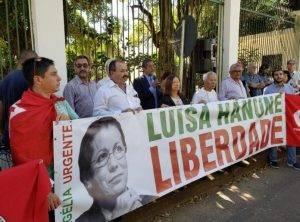 Ato, hoje (25), contra perseguição política na Argélia – Luisa Hanune condenada à 15 anos de prisão