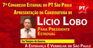 PT-SP: apresentação da candidatura de Licio Lobo para presidente