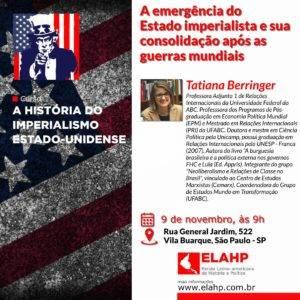 """ELAHP – """"EUA: A emergência do estado imperialista e sua consolidação após as guerras mundiais"""""""