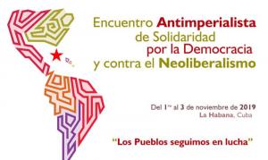 Encontro anti-imperialista debate em Cuba rumos da luta contra o neoliberalismo na América Latina