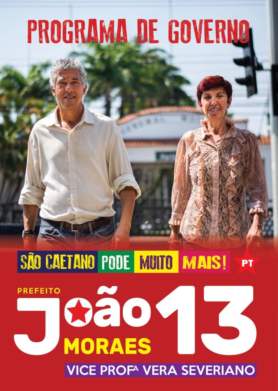 São Caetano do Sul - Programa de Governo PT -2020. João Moraes prefeito e Vera Severiano vice