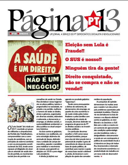Página 13 n181, Mar 2018 - Especial Saúde
